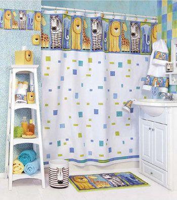 decorar el bao para nios cortinas