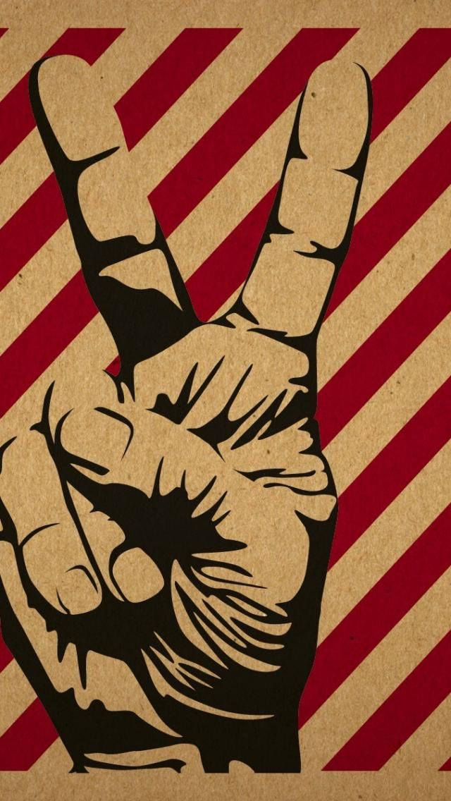 Peace Hand Iphone Wallpaper Mobile9 Retro Wallpaper Love