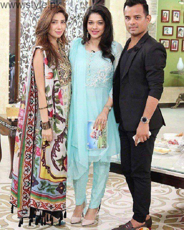 e877a2c337 Mahira Khan Shining Bright At Sanam Jung's Morning Show | Style.Pk ...