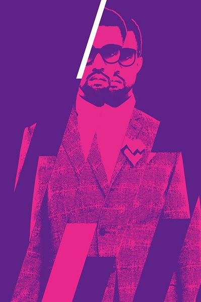 Love This Graphic Design Part Of A Concert Poster For Kanye West In Chicago Concert Posters Cool Artwork Kanye West Concert