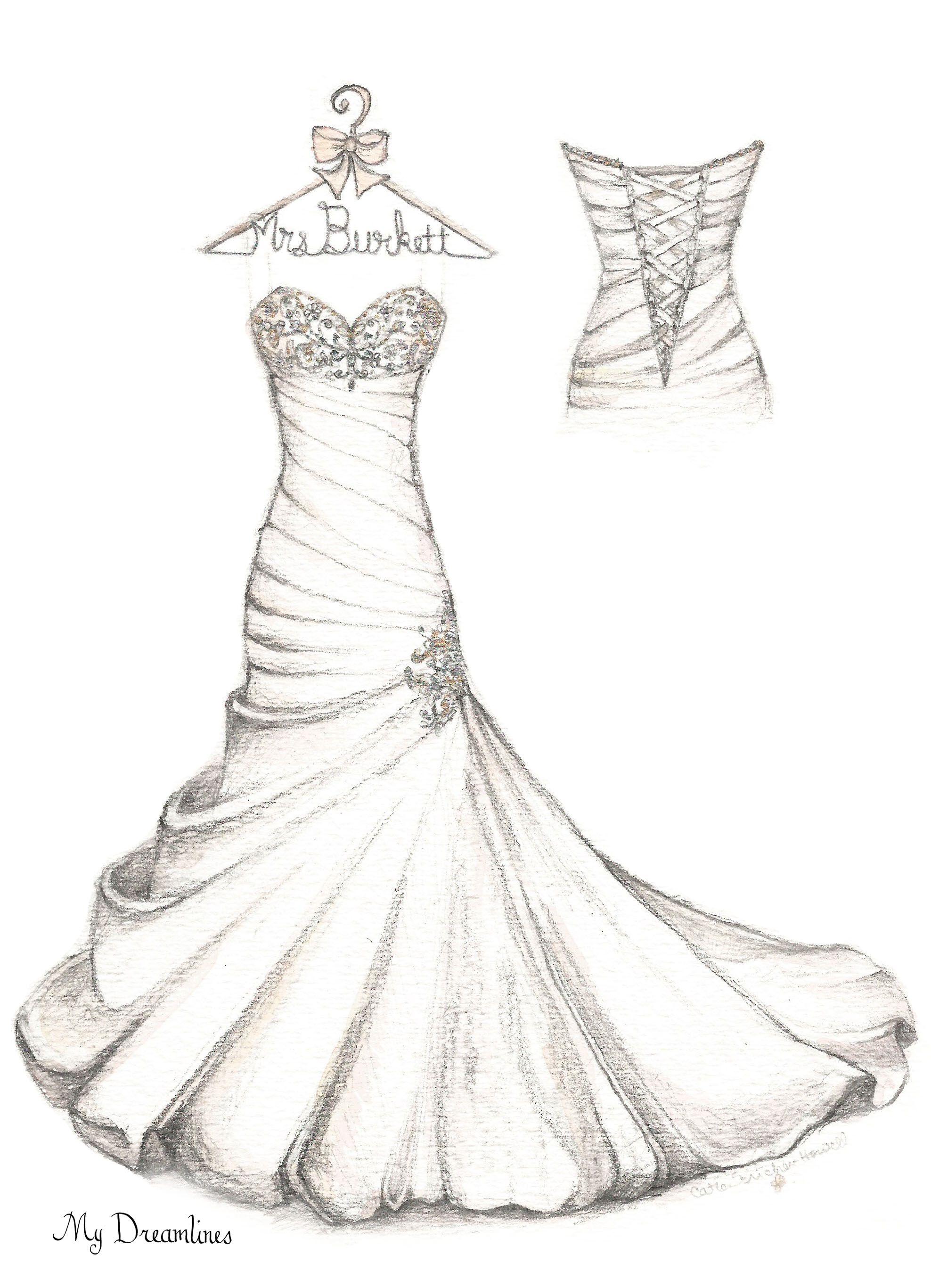 Pin by Wedding Dress Sketch - Dreamlines on A Wedding ...