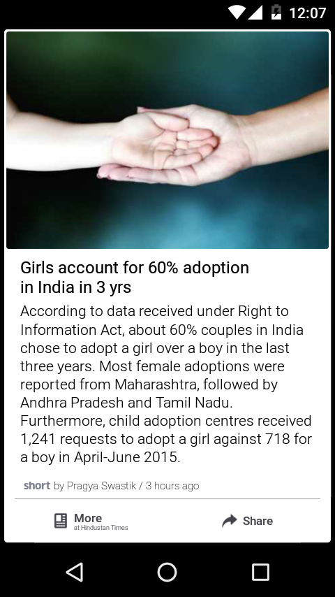 Girls account for 60% adoption in india in 3 yrs. ldafoundation.org