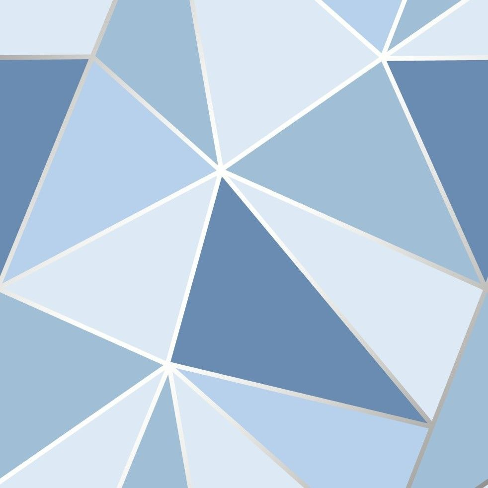 Blue Geometric Wallpaper Triangles Design By Fine Decor Fd41992 Wall Paint Patterns Geometric Wall Paint Geometric Wallpaper