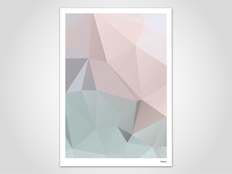 Kunstdrucke Modern pastel 2 modern poster abstract prints modern wall print