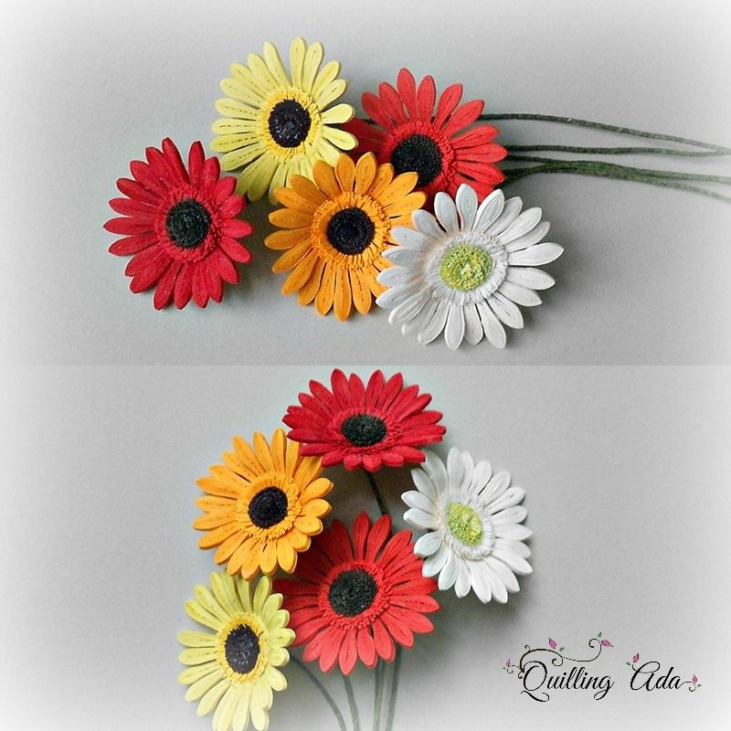 Quilling Gerbera Quilling Quilling Designs Quilling Patterns