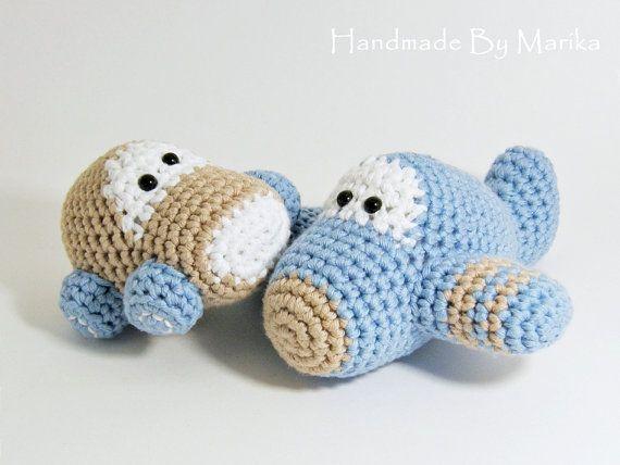 Crochet Amigurumi For Baby : Crochet toy baby rattles amigurumi airplane and car set organic