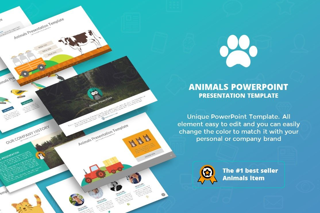 Animals Powerpoint Presentation Template Rengstudio Powerpoint Presentation Powerpoint Presentation Templates Presentation Templates