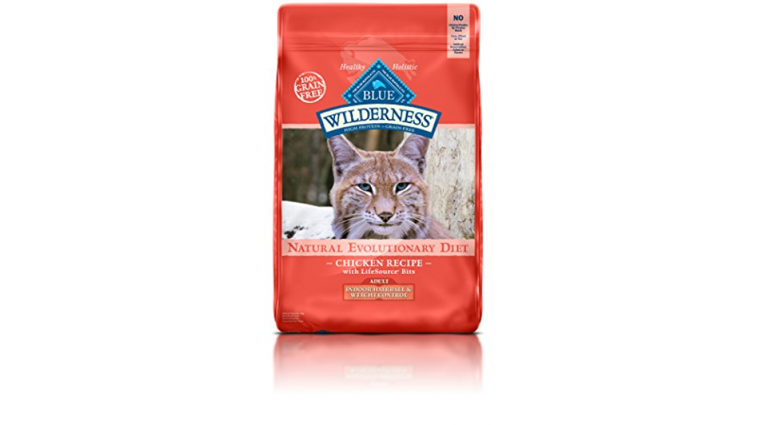 BLUE Wilderness Adult Indoor Hairball & Weight Control Hairball Chicken Dry  Cat Food 11-lb