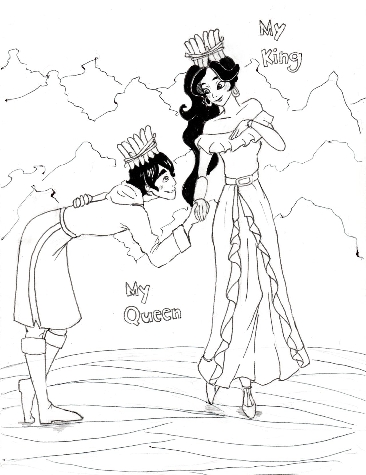 King Mateo And Queen Elena Matena Elenateo Coloring Pages Cartoon Ships Cartoons Series [ png ]