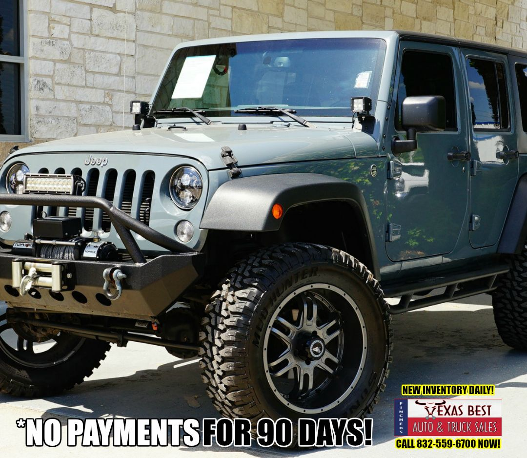 COME SEE US TODAY!!! 2015 Jeep Wrangler Unlimited Sport