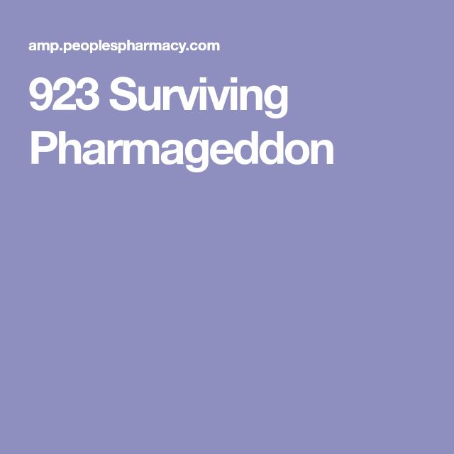 923 Surviving Pharmageddon Iatrogenic Harm Pinterest