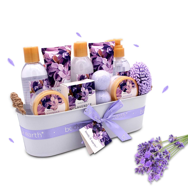 Set 12 Pcs Lavender Scented Includes Shower Gel Bubble Bath