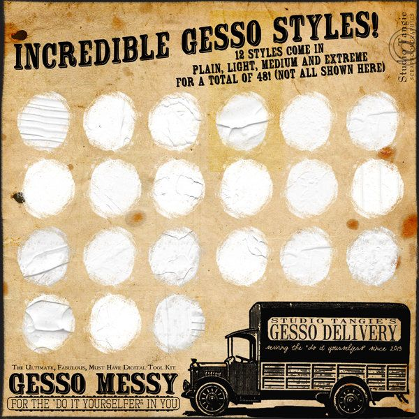Scrapbookgraphics.com :: Actions & Styles :: Gesso Messy! {The Ultimate, Fabulous, Must Have Tool Kit}