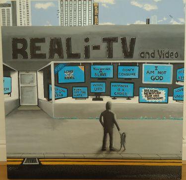 "Saatchi Art Artist ALAN DOHERTY; Painting, ""REALi-TV"" #art"