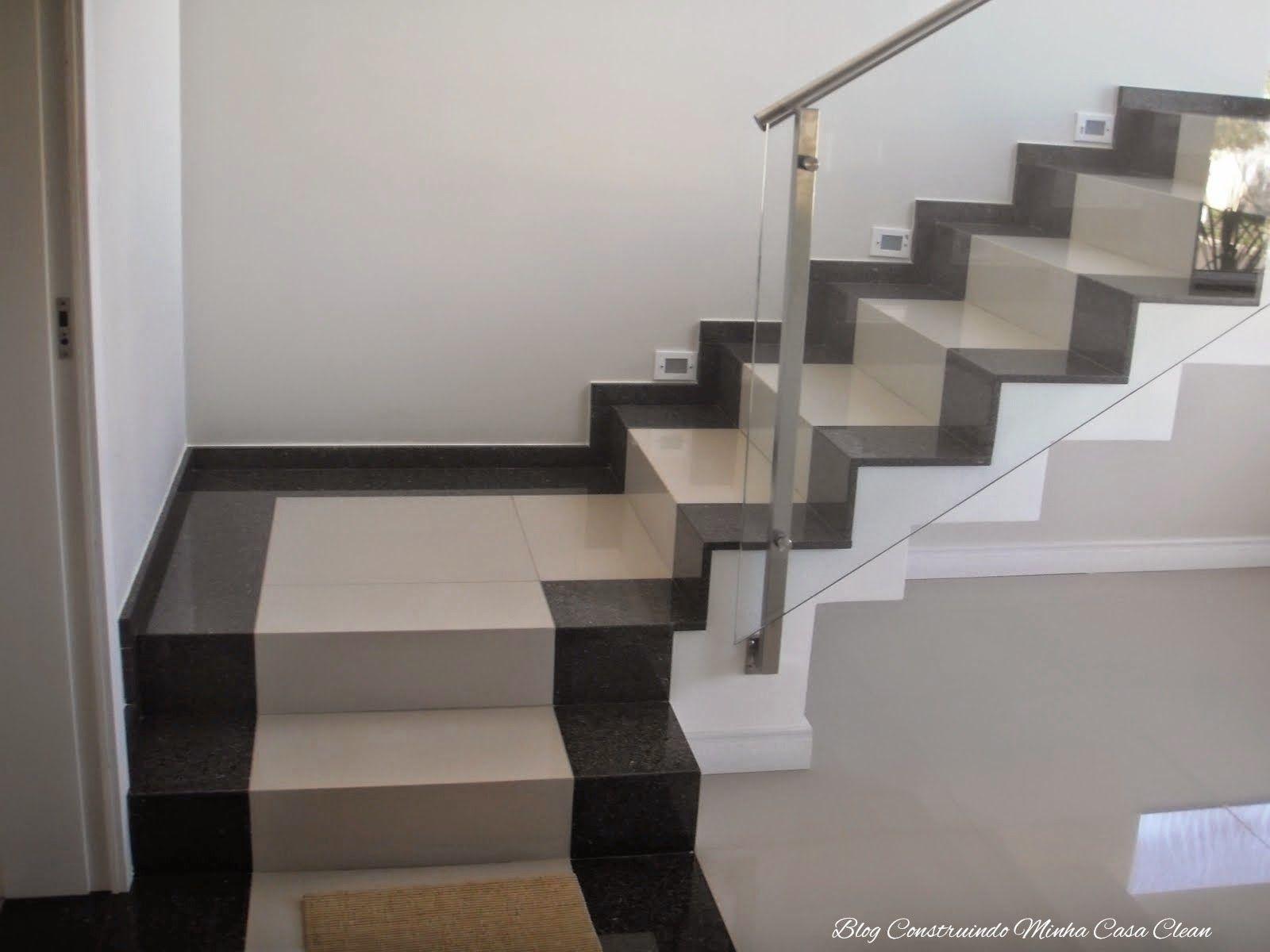 Escadas de porcelanato veja dicas e modelos escalera for Tipos de granito negro