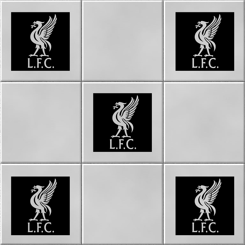 Pack of 5 Liverpool Liver Bird Tile Wall Sticker Decal
