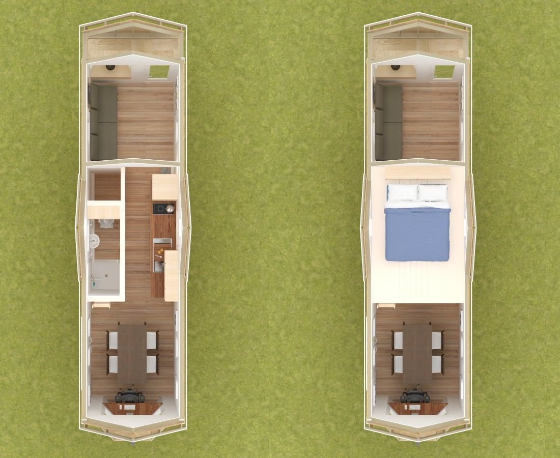 Westport 28 Tiny House Interior Floor Plans Id Rather Have A Bedroom Than