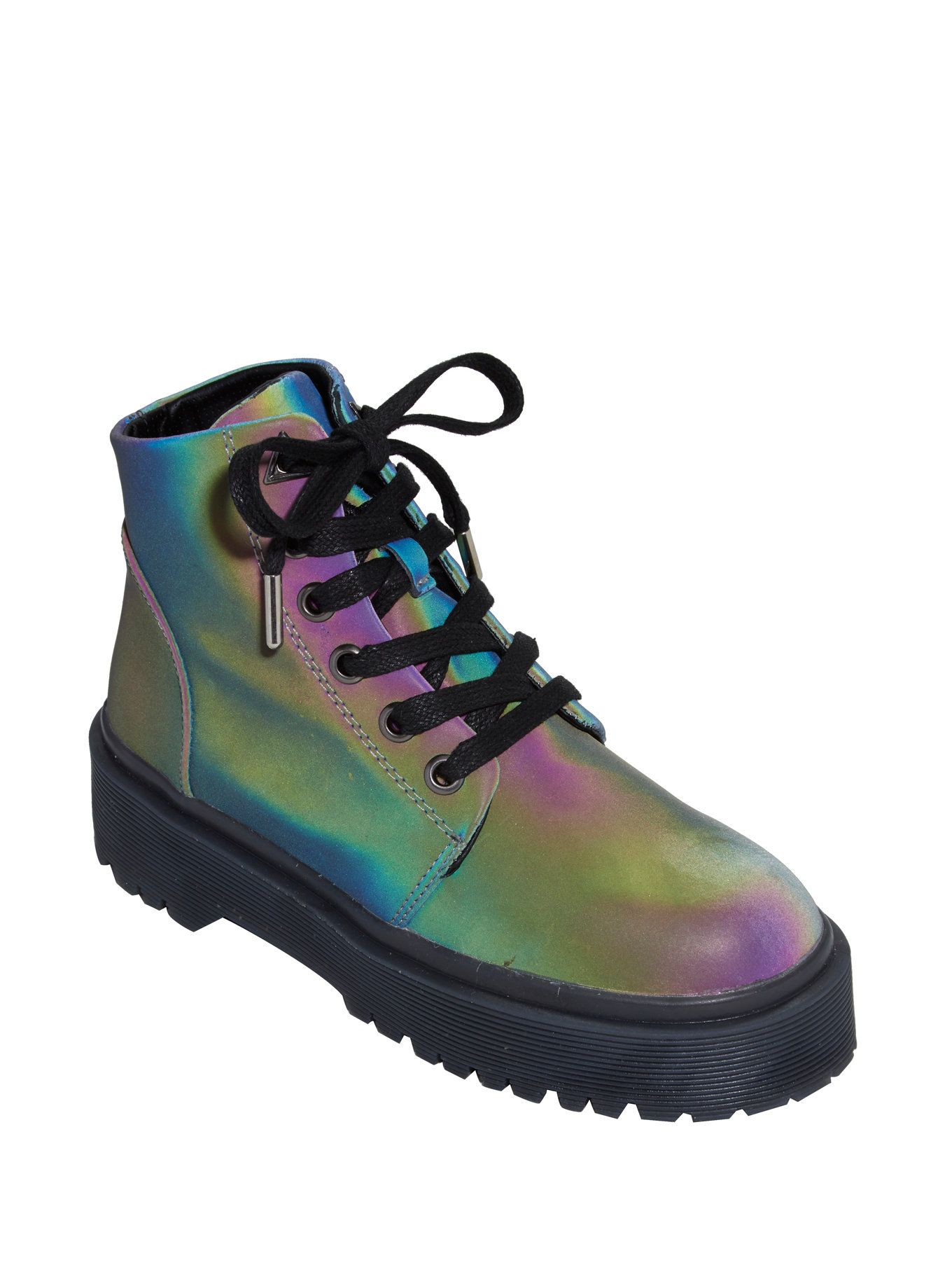 lt div gt These iridescent boots are going to light up your life. The