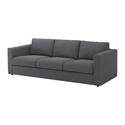 Schlafsofa ecksofa ikea  VIMLE Sofa, Gunnared medium gray | Seat cushions, Cosy sofa and Cosy