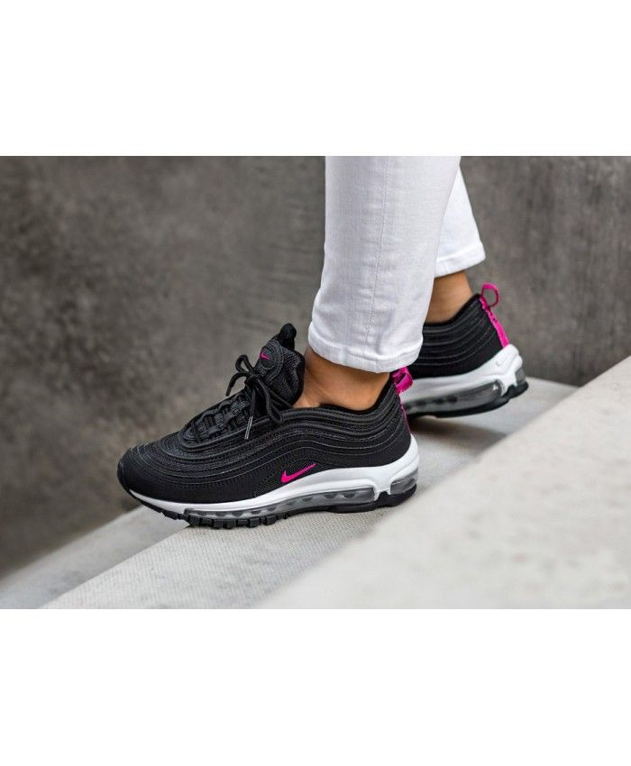 quality design 71fdb 13963 Hot Discount Nike Air Max 97 Gs Black Pink Prime White Sale UK101-198
