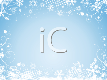 iCLIPART - Decorative winter background