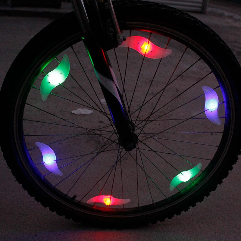 Tyre Wheel Lamp Bike LED Bright Light Colorful Bicycle Cycling Spokes Wire Tire