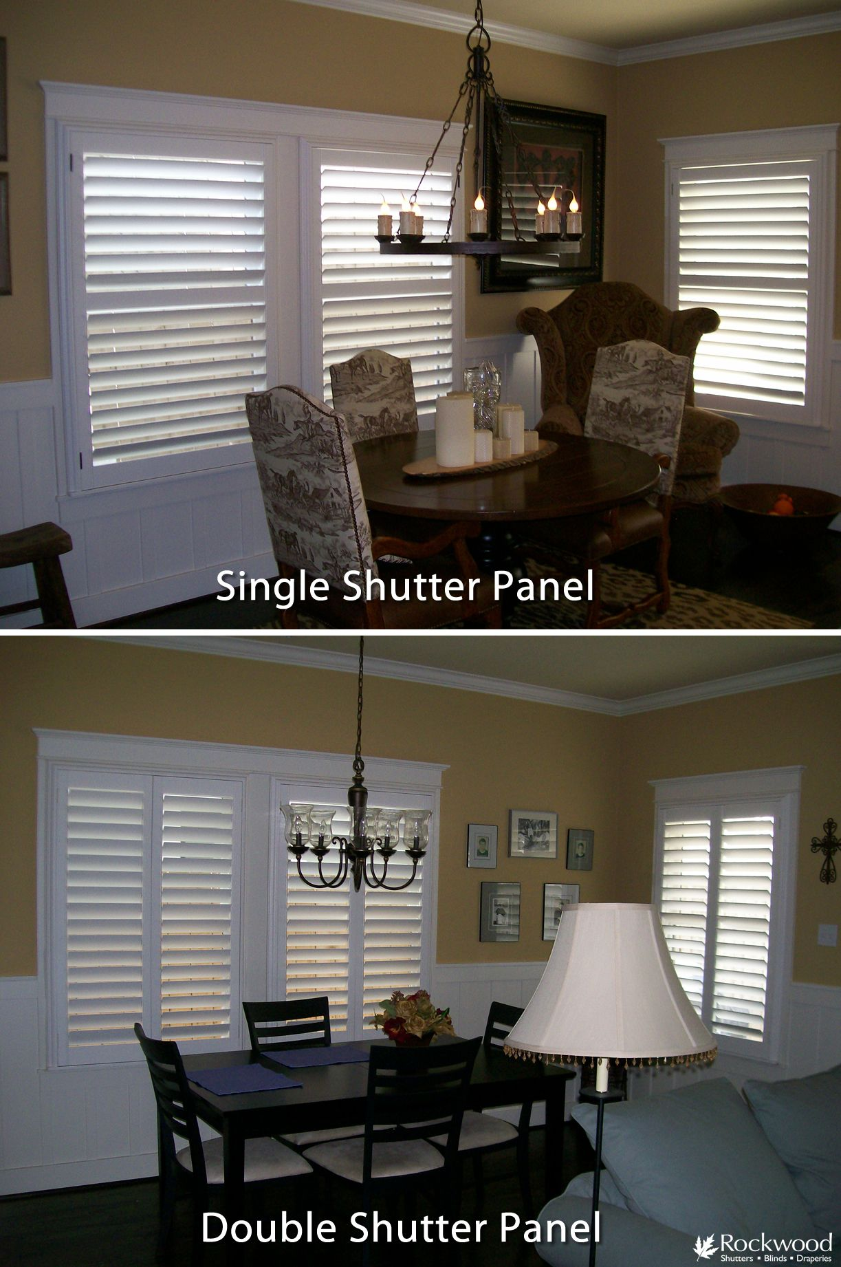 Double Panel Shutters Vs Single Panel Shutters On A Wide