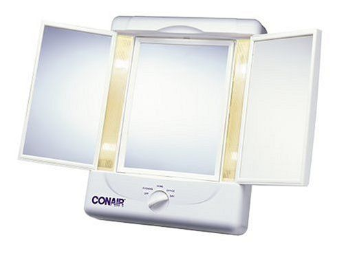 Conair Illumina Collection Two Sided Makeup Mirror With 4 Light Settings