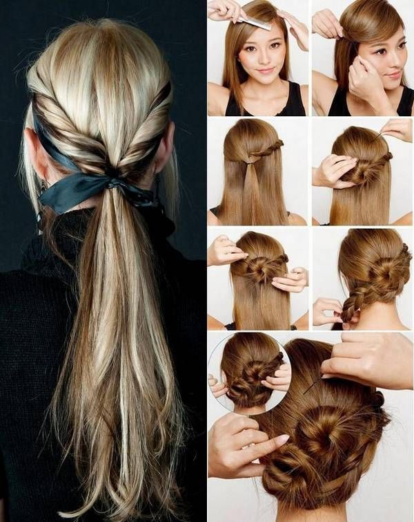 Enjoyable Hairstyle For Long Hair Easy Hairstyles And Double Buns On Pinterest Short Hairstyles Gunalazisus