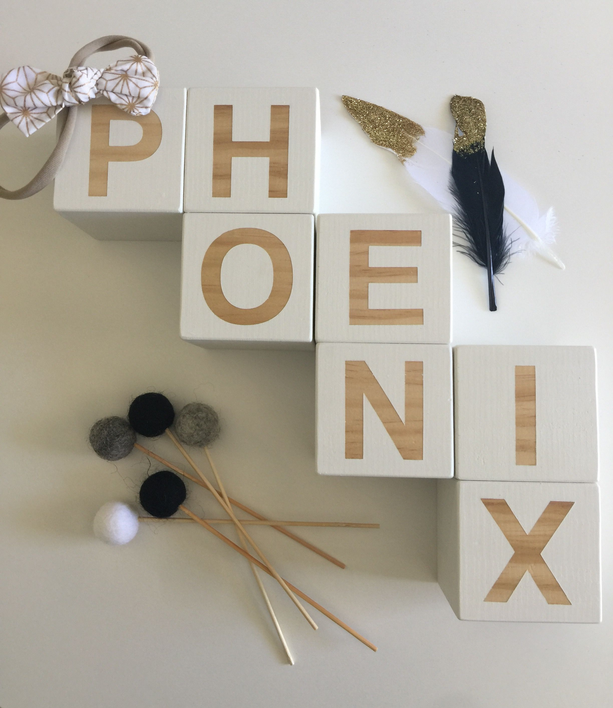 Letter Blocks For Phoenix In White WwwPennylouComAu Wooden Decor