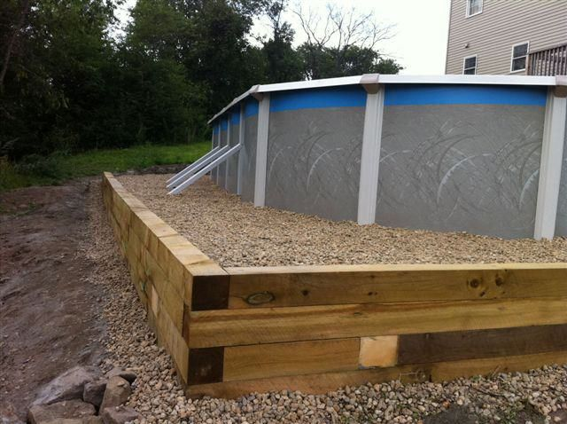 Retaining Wall For Above Ground Pool