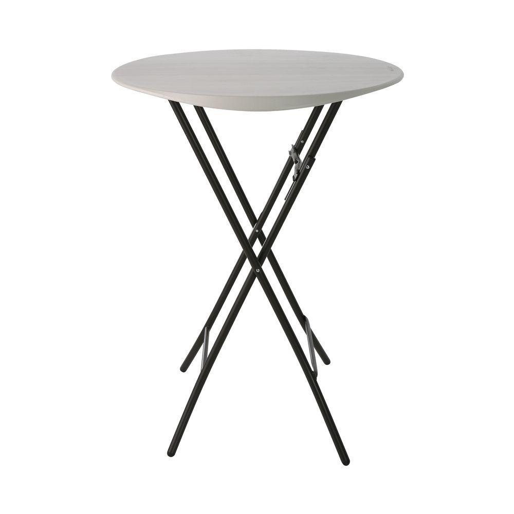 - Lifetime 33 In. Almond Plastic Folding Bistro Table-80362 In 2020