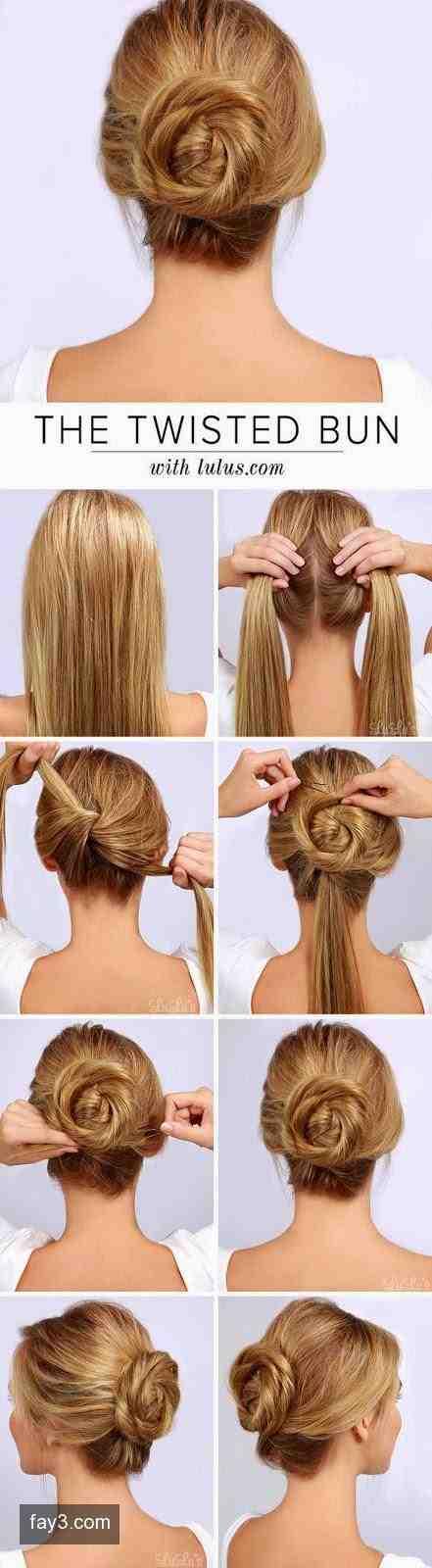 خطوات عمل تسريحة للمناسبات بسيطة وسهلة شعر تسريحات صوره رقم 9 Hair Styles Hair Bun Tutorial Long Hair Styles
