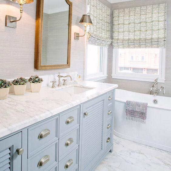 21++ Pearl gray bathroom wall cabinet custom