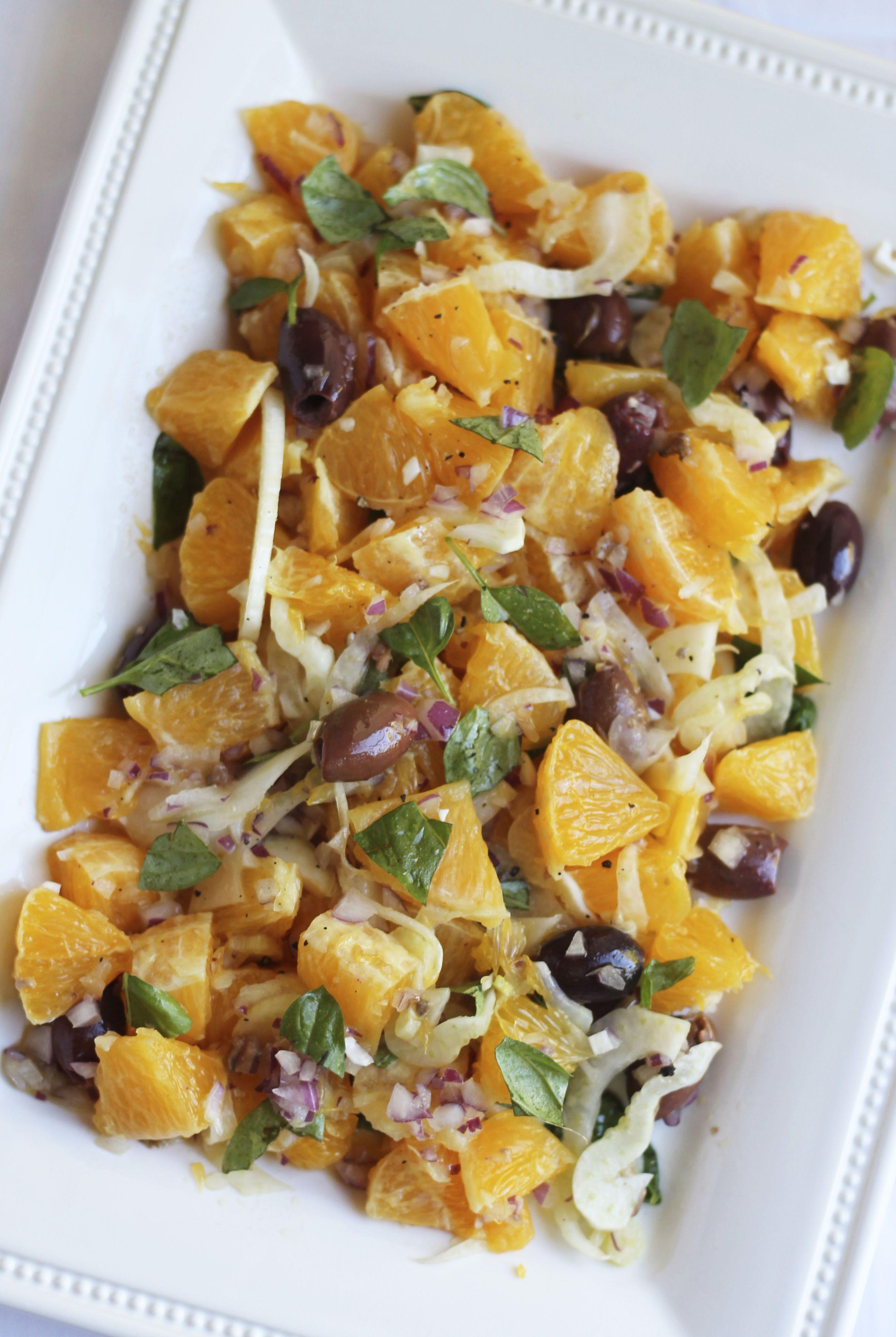 Sicilian Salad | Cooking with ginger, Orange salad, Salad