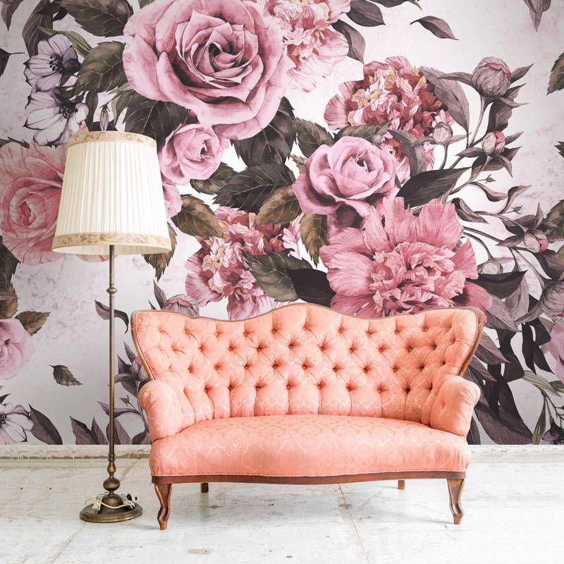 Retro flowers • Vintage - Living room - Nature - Flowers and plants ...