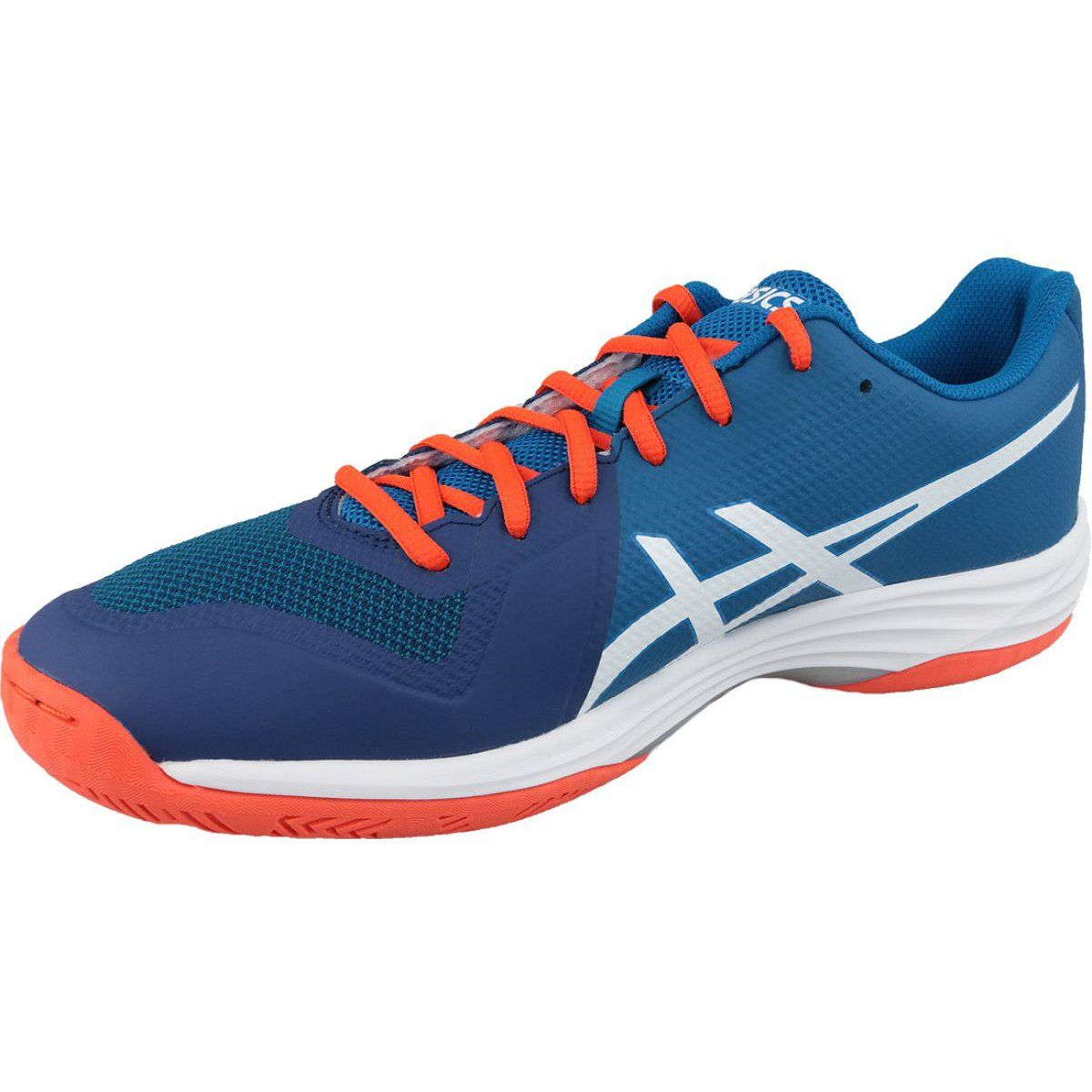 Volleyball Shoes Asics Gel Tactic M B702n 401 Blue Navy Blue With Images Volleyball Shoes Asics Shoes