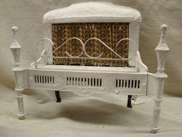 Antique 1900's cast iron ornate gas fireplace insert reznor 250 s ...