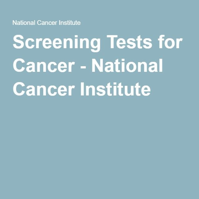 Screening Tests for Cancer - National Cancer Institute Pharmacy - rite aid pharmacist sample resume