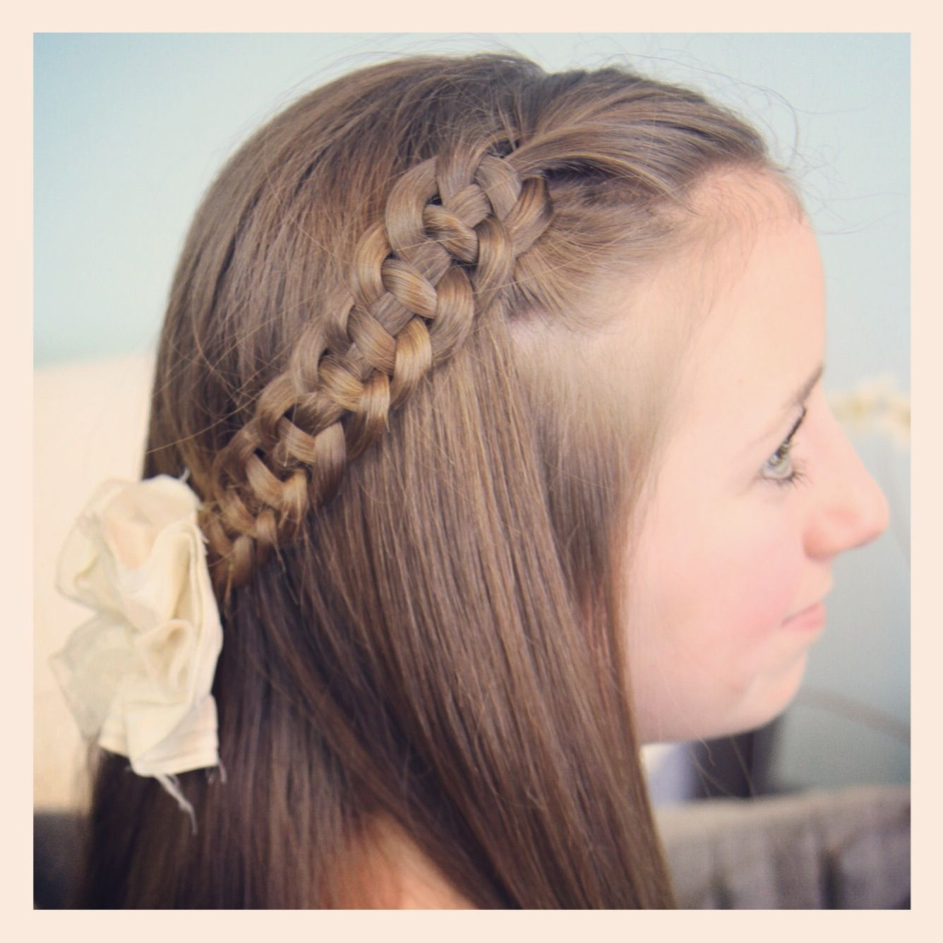Cute Updos For Little Girls | Cute Girls Hairstyles > Hairstyles > Time > 05-10 Minutes > 4-Strand ...