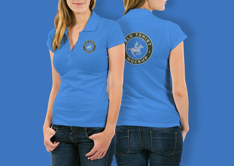 Download Free Woman Polo T Shirt Mockup Psd 2018 Shirt Mockup Polo T Shirts Tshirt Mockup