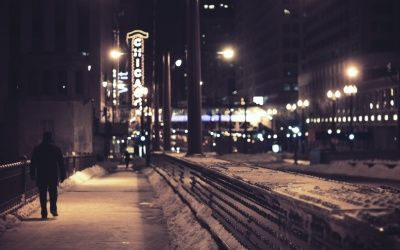 Walking Alone In Night Click To View Sad Boys Chicago Night