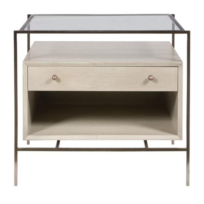 Britton Nightstand Gray Walnut Furniture Table