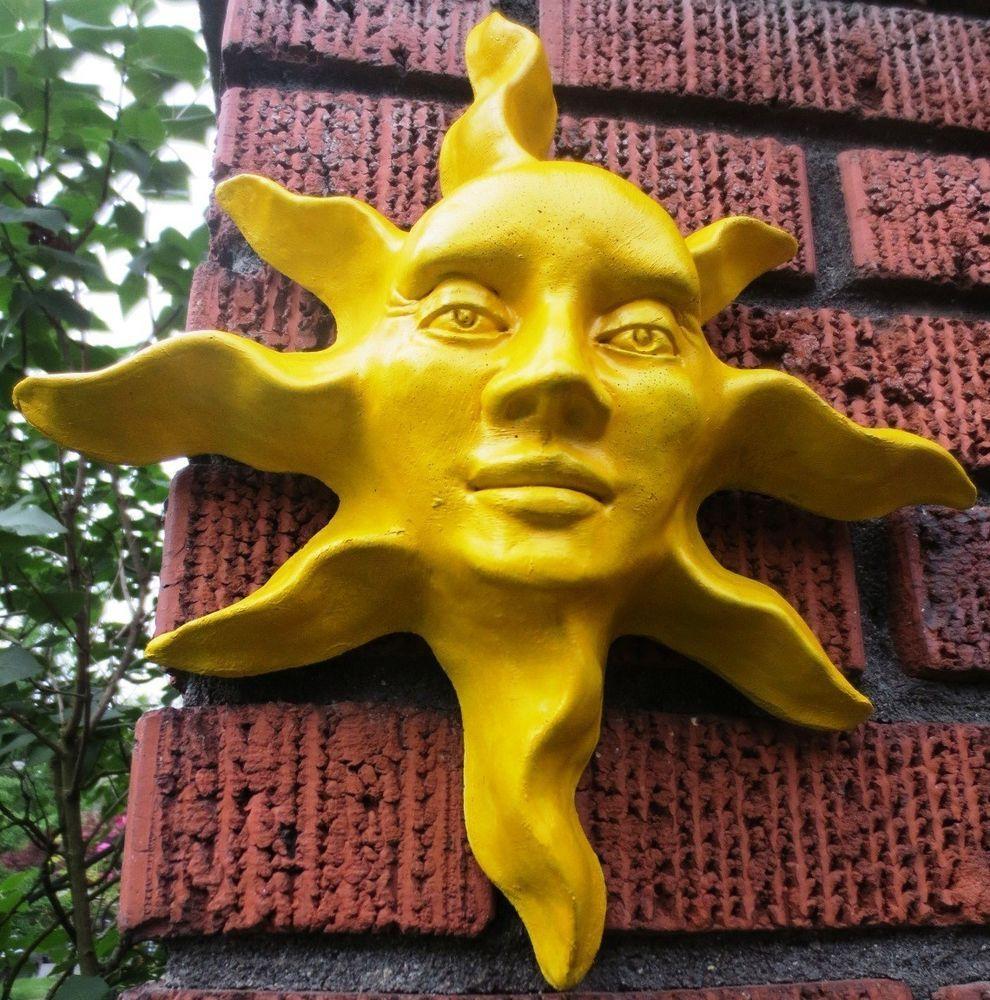 Beautiful Handmade Yellow Wall Sculpture Indoor Outdoor Garden Art ...