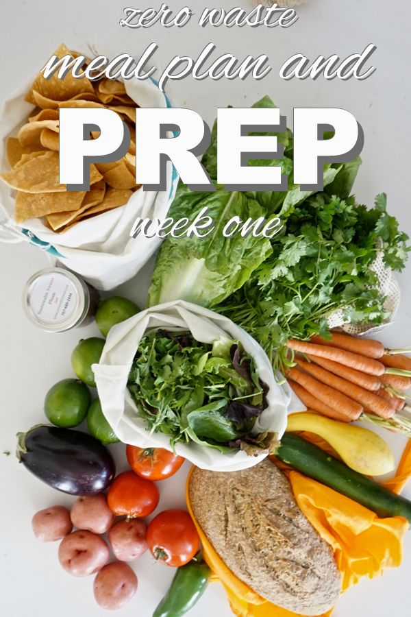 Zero Waste Meal Plan Week 1 Meal Planning Reduce Food Waste