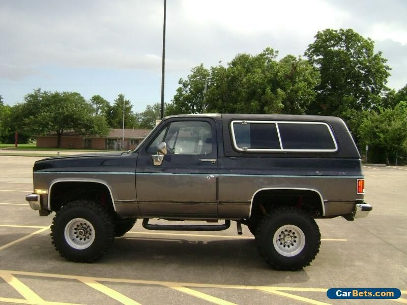 Car For Sale 1989 Chevrolet Blazer Silverado