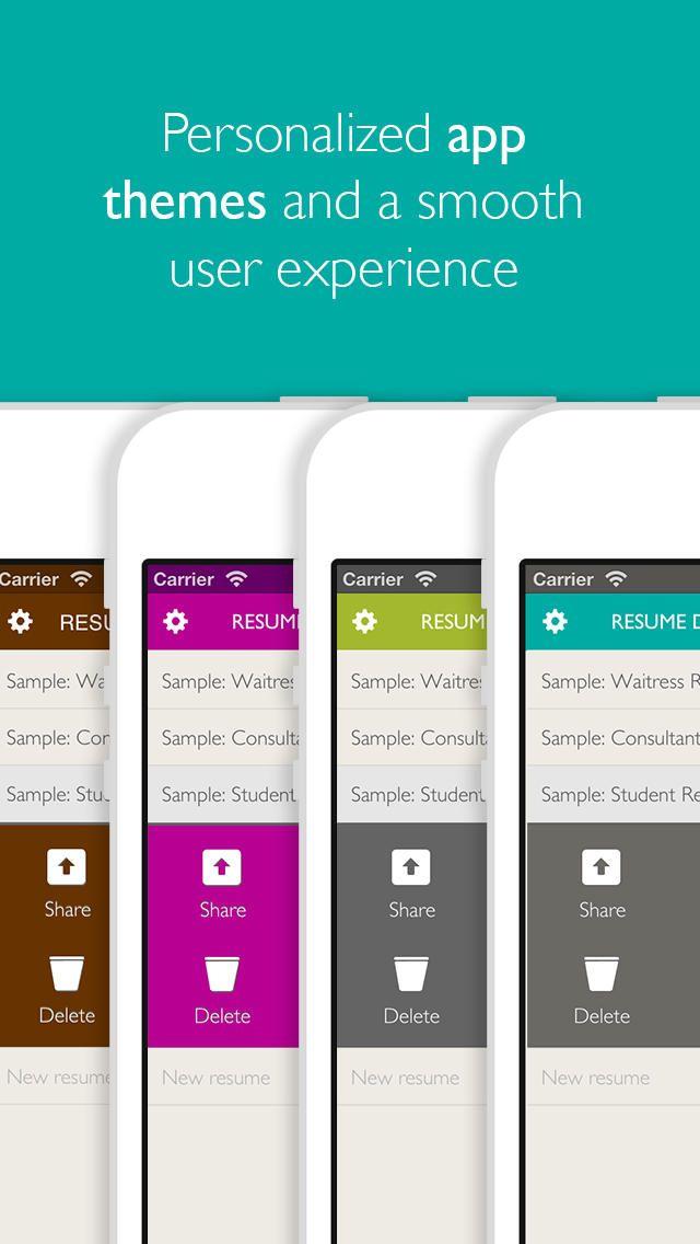 Resume Designer Pro app Resume, Best resume template