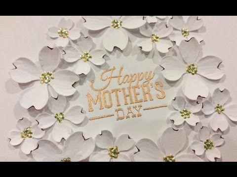 Elegant Mother's Day Card Tutorial - Diemond Dies DTP - YouTube