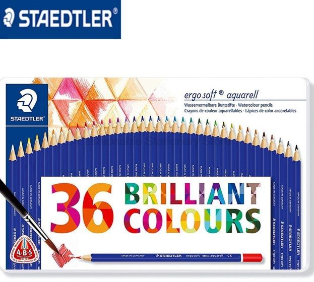 staedtler 156 m36 36 color water soluble colored pencils set for tin