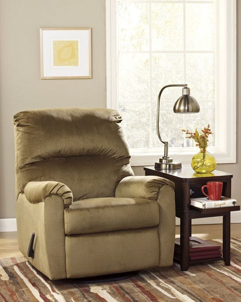 Living Room Decor on a Budget: McFarin Recliner by Ashley Furniture. At Kensington Furniture for $349.99